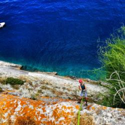 mediterranean cuisine seafood cold drinks and kayak in National Park Mljet