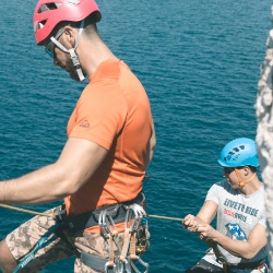 go abseiling on extreme kayaking tour National Park Mljet